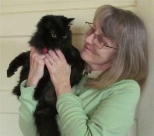 Mollie Hunt with Tinkerbelle, Registered Pet Partners for the Delta Society.