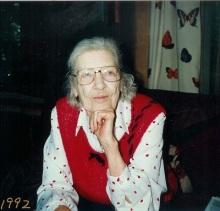 My mother, Mary Elizabeth