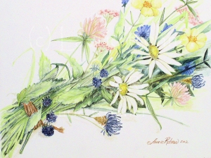 Colored Pencil Drawing, Bouquet by Laurie Rohner