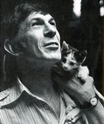leonard nimoy and cat