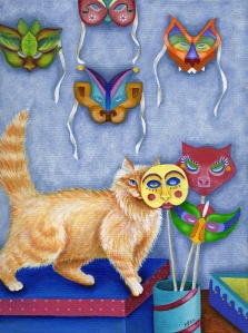 Incognito by Leslie Cobb, Cat Artist