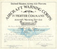D- AIRCRAFT WARNING CORPS