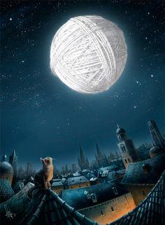 a kitty's dream moon ~ Mirsad
