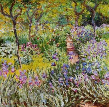 Garden-at-Giverny-Claude